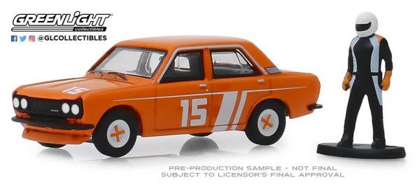 97070d - 1970 Datsun 510 4-door Sedan with Race Car Driver