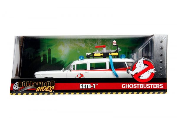 99731 1.24 ghostbusters ecto 1 in packaging - GHOSTBUSTERS ECTO-1 - HOLLYWOOD RIDES