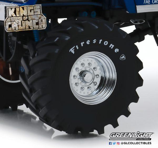 """13546 - Kings of Crunch 48"""" inch Monster Truck Firestone Wheel & Tire Set - 1:18 scale"""
