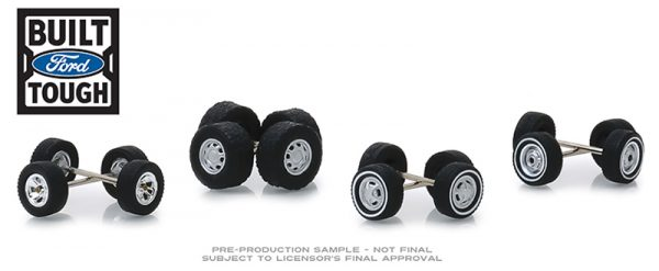 16010b1 - Ford Trucks Wheel & Tire Pack - 16 Wheels, 16 Tires, and 8 Axles