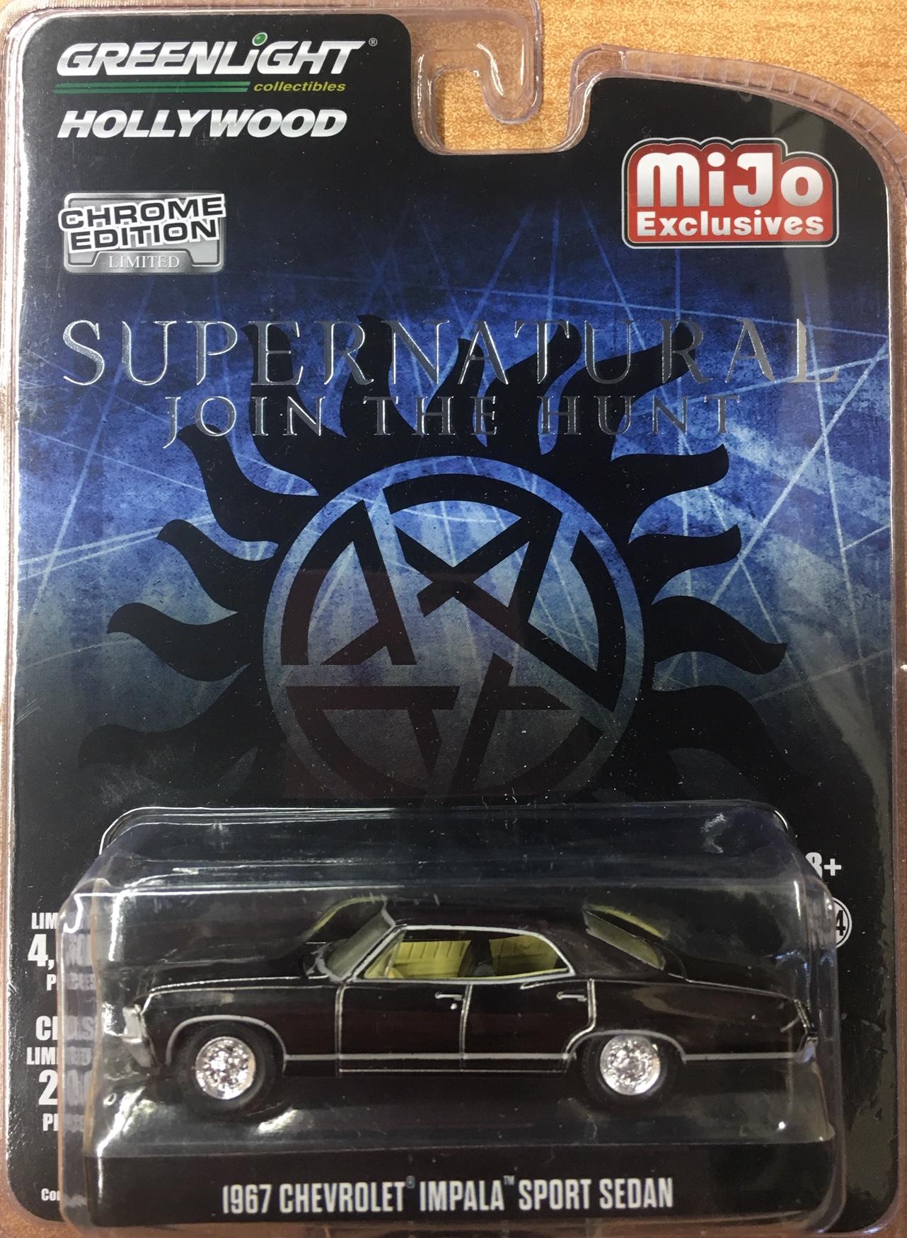 1967 Chevrolet Impala Sport Sedan Supernatural John The Hunt Chrome Edition Diecast Depot