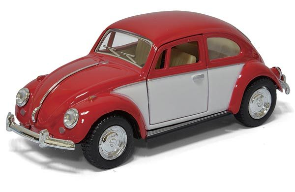 kt5373d1 - 1967 Volkswagon Beetle - Classic - two tone pull back action cars