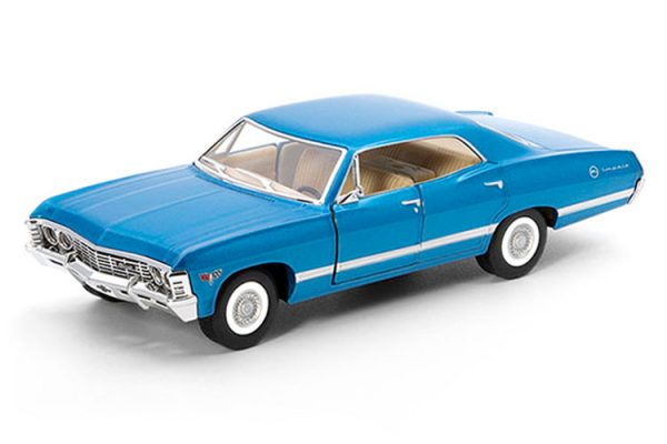 kt5418d - 1967 Chevrolet Impala pull back action die cast car - 1:43 scale (ONLY RED, WHITE OR BLACK LEFT