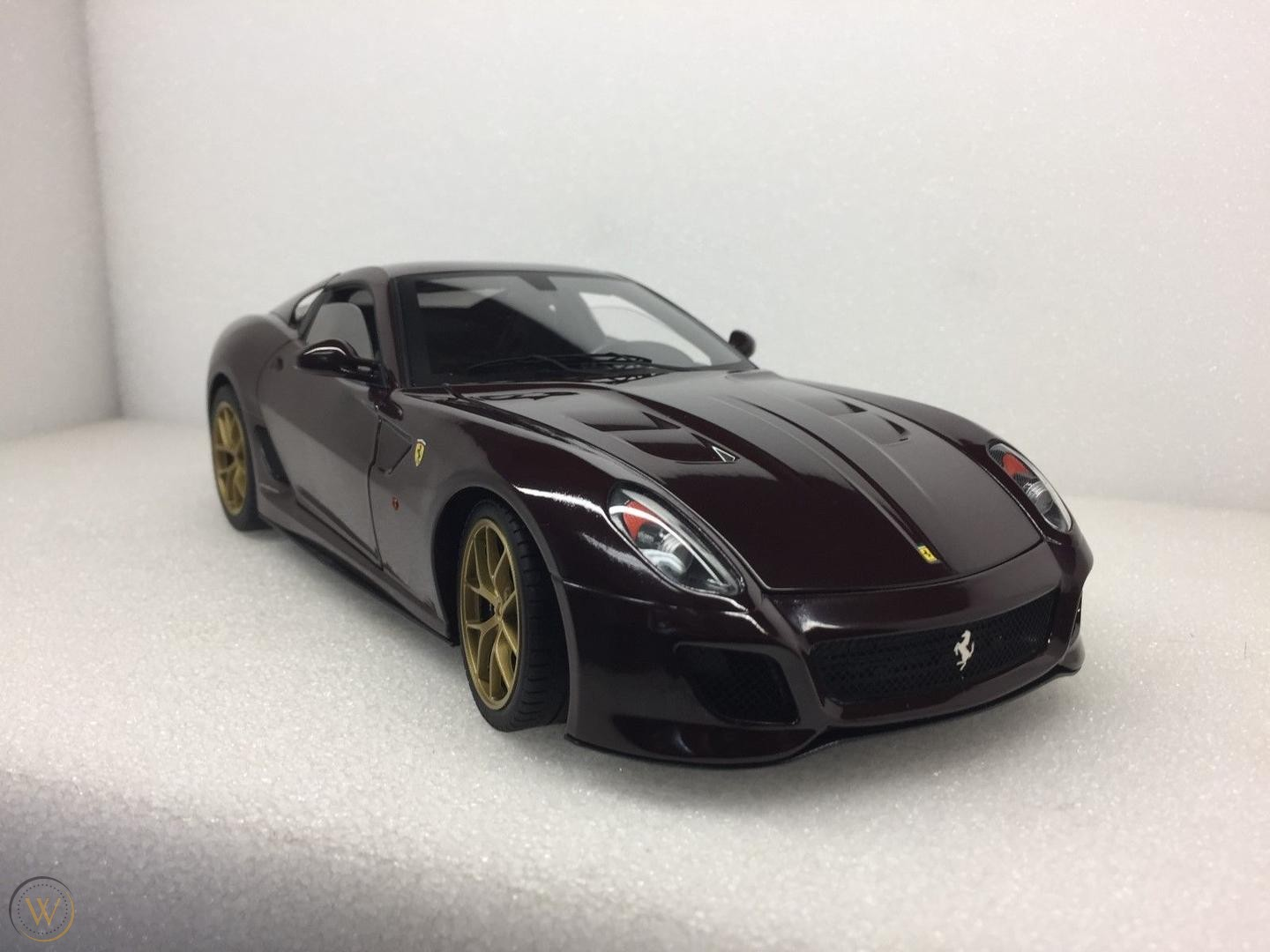 Ferrari 599 Gto Michael Mann Burgundy Hot Wheels Elite Diecast Depot