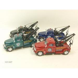 """kt5033 - 1953 Chevy Tow Truck - 5"""" long - pull back action"""