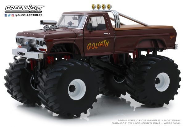 """13540 - 1979 Ford F250 """"GOLIATH"""" Monster Truck, King of Crunch series, with 66"""" tires"""