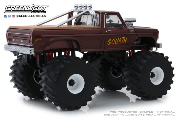 """13540a - 1979 Ford F250 """"GOLIATH"""" Monster Truck, King of Crunch series, with 66"""" tires"""
