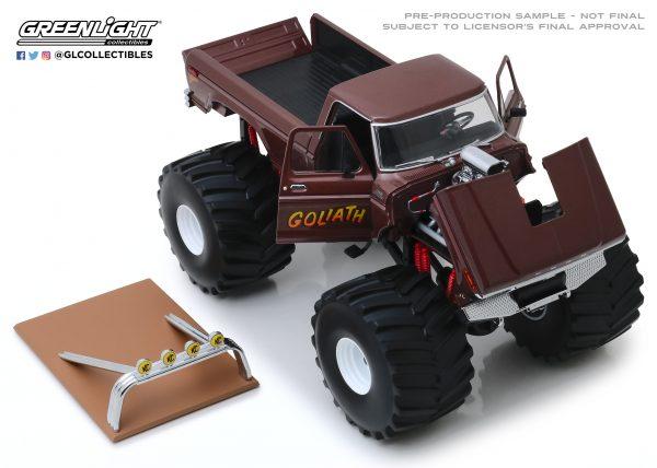 """13540b - 1979 Ford F250 """"GOLIATH"""" Monster Truck, King of Crunch series, with 66"""" tires"""