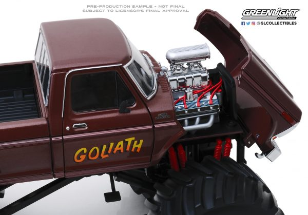 """13540c - 1979 Ford F250 """"GOLIATH"""" Monster Truck, King of Crunch series, with 66"""" tires"""