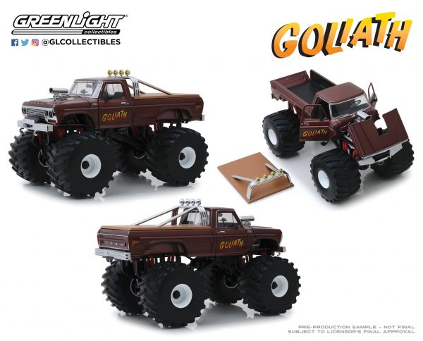 """13540d - 1979 Ford F250 """"GOLIATH"""" Monster Truck, King of Crunch series, with 66"""" tires"""