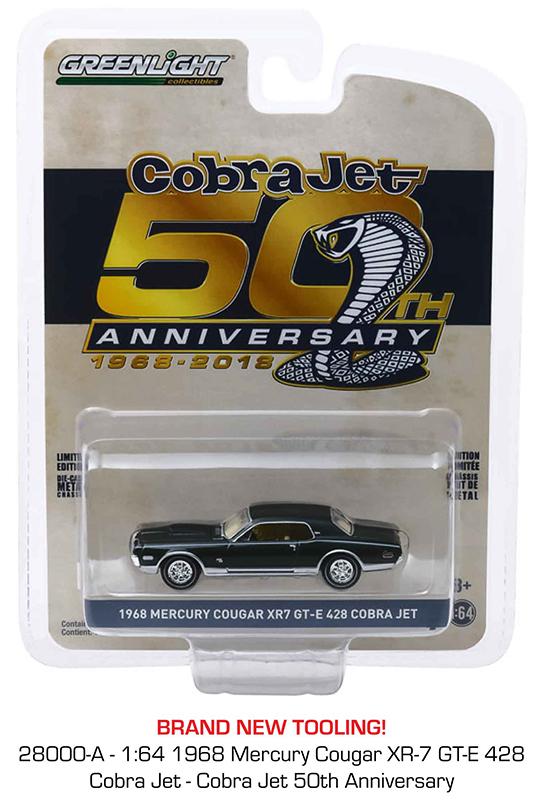 28000a - 1968 Mercury Cougar XR-7 GT-E 428 Cobra Jet - Cobra Jet 50th Anniversary Anniversary Collection Series 9