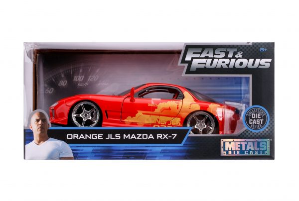 30747 1.24 ff orange juliuss mazda rx 7 7 scaled - ORANGE JULIUS'S MAZDA RX-7-1:24 FAST & FURIOUS