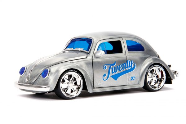 31083 1.24 jada 20th vdubs 1959 vw beetle 2 - 1959 VW BEETLE- 1:24 Jada 20th - VDUBS -
