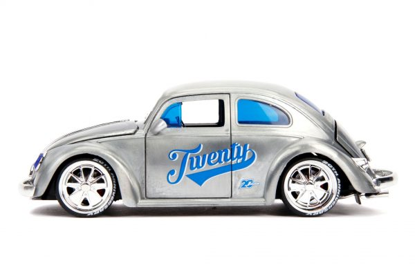 31083 1.24 jada 20th vdubs 1959 vw beetle 3 - 1959 VW BEETLE- 1:24 Jada 20th - VDUBS -