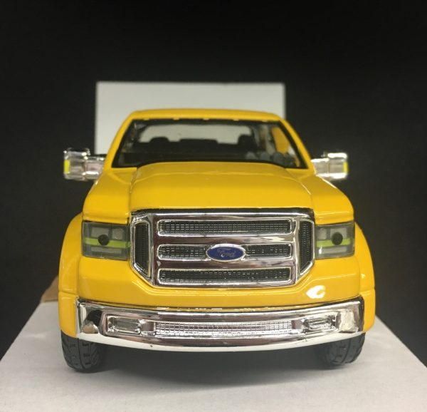 31213c - FORD MIGHTY F-350 SUPER DUTY PICK UP TRUCK - YELLOW - 1:31 SCALE