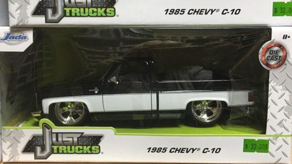 31605mj - 1985 Chevrolet C10 Pick Up Truck Custom - black and white - MiJo Exclusive