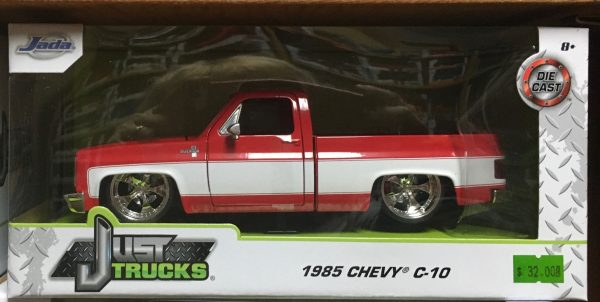 31608mj - 1985 Chevrolet C10 Pick Up Truck Custom - red and white - MiJo Exclusive