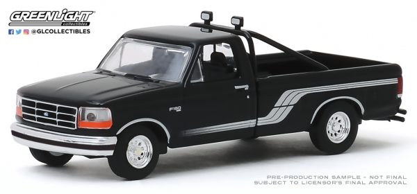 35150d - 1992 Ford F-150 4x4 in Raven Black with Silver Stripes