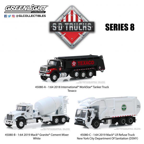 45080set - 2019 Mack LR Front Load Refuse Truck - New York City Dept. of Sanitation (DSNY)