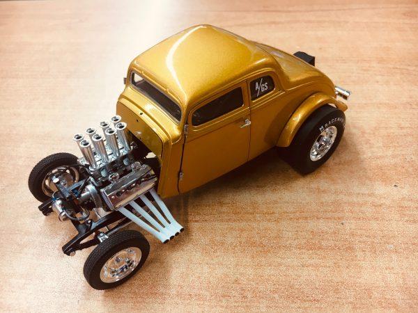 a1800914g - 1933 Willys Gasser Custom - Gold Metallic