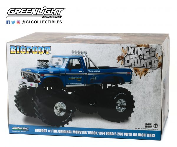 """13541a - Bigfoot #1 - 1974 Ford F-250 Monster Truck with 66"""" Tires"""