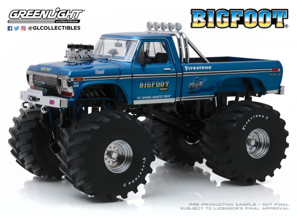"""13541b - Bigfoot #1 - 1974 Ford F-250 Monster Truck with 66"""" Tires"""