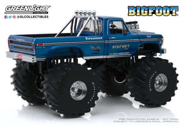 """13541c - Bigfoot #1 - 1974 Ford F-250 Monster Truck with 66"""" Tires"""