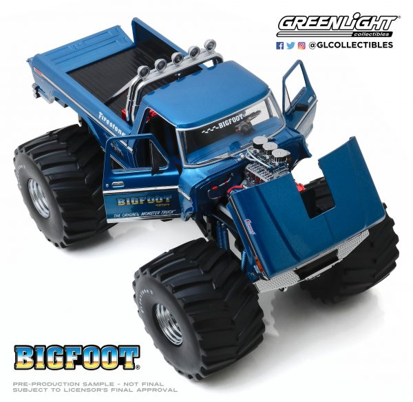 """13541d - Bigfoot #1 - 1974 Ford F-250 Monster Truck with 66"""" Tires"""