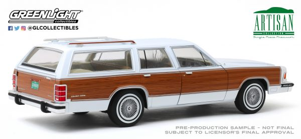 19067a - 1989 Mercury Grand Marquis Colony Park - White with Wood Grain Paneling