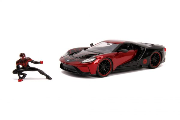 31190 1.24 hwr marvel 2017 ford gt w miles morales 2 - 2017 FORD GT W/MILES MORALES - HOLLYWOOD RIDES