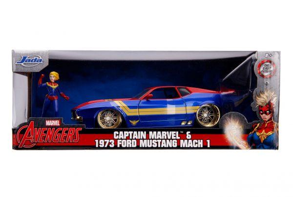 31193 1.24 hwr marvel 1973 ford mustang mach 1 w captain marvel 8.... - 1973 FORD MUSTANG MACH 1 W/CAPTAIN MARVEL - HOLLYWOOD RIDES