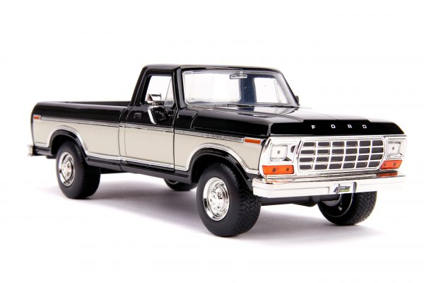 31585 1.24 jt 1979 ford f 150 stock g.black 1 scaled - 1979 FORD F-150 PICKUP STOCK – GLOSSY BLACK - Just Trucks