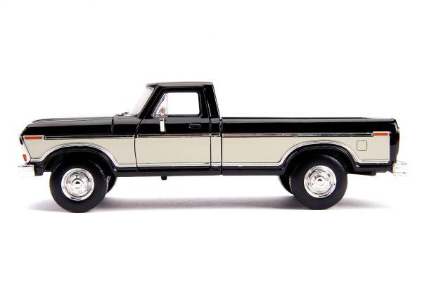 31585 1.24 jt 1979 ford f 150 stock g.black 2 - 1979 FORD F-150 PICKUP STOCK – GLOSSY BLACK - Just Trucks