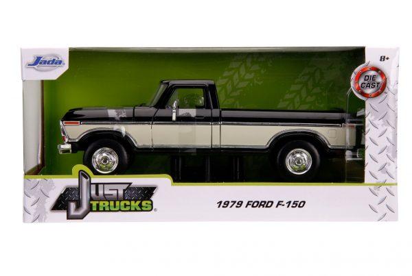31585 1.24 jt 1979 ford f 150 stock g.black 3 - 1979 FORD F-150 PICKUP STOCK – GLOSSY BLACK - Just Trucks