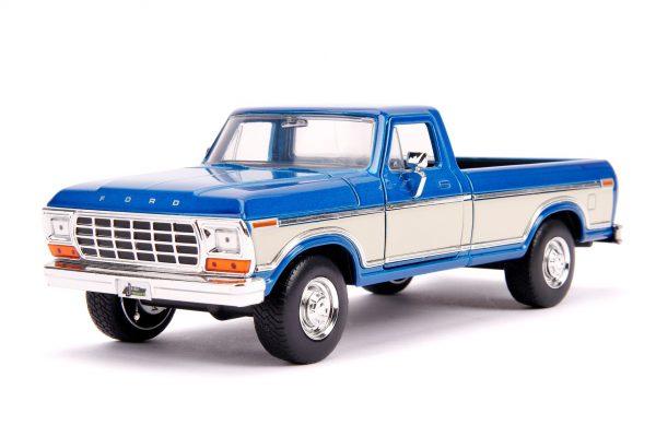 31587 1.24 jt 1979 ford f 150 stock m.blue 1 - 1979 FORD F-150 PICKUP STOCK – METALLIC BLUE - Just Trucks