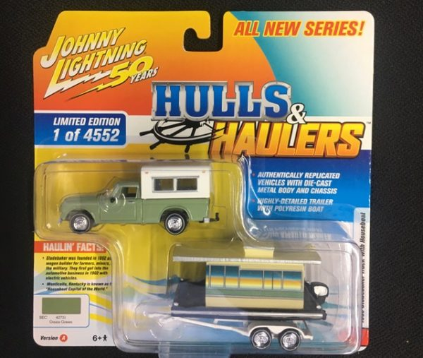 jlbt012a2 - 1960 Studebaker Truck with Houseboat in 1:64 scale - NEW SERIES
