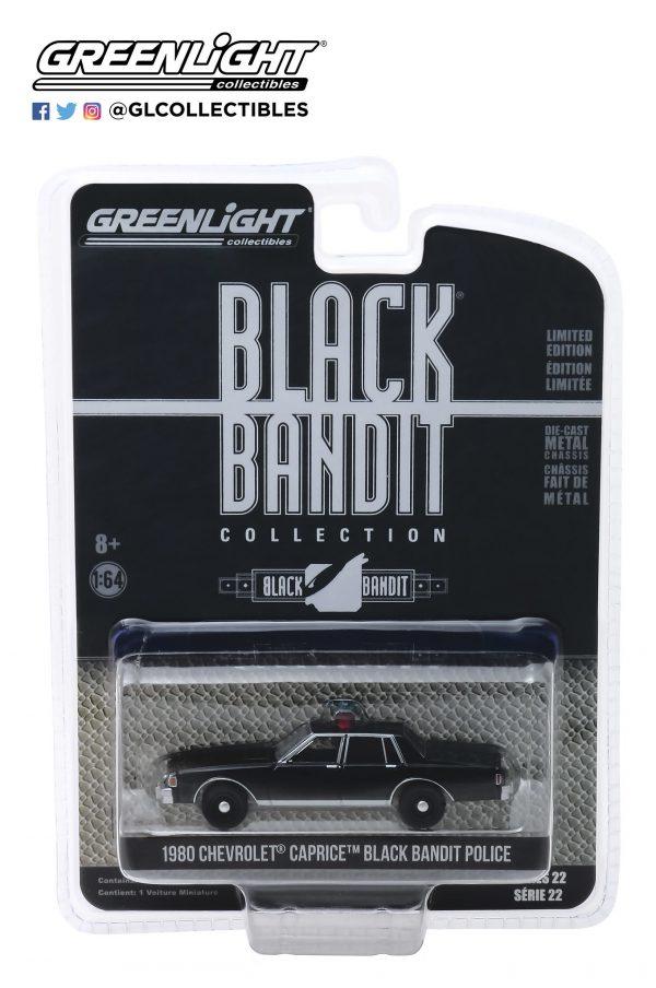 28010d - 1980 CHEVROLET CAPRICE BLACK BANDIT POLICE