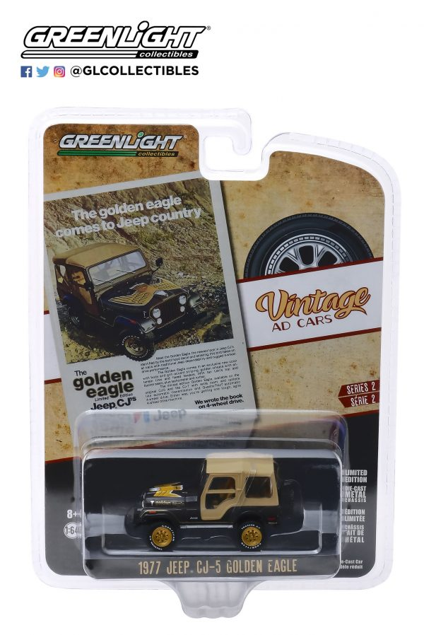 """39030e - 1977 Jeep CJ-5 Golden Eagle - """"The Golden Eagle Comes to Jeep Country"""""""