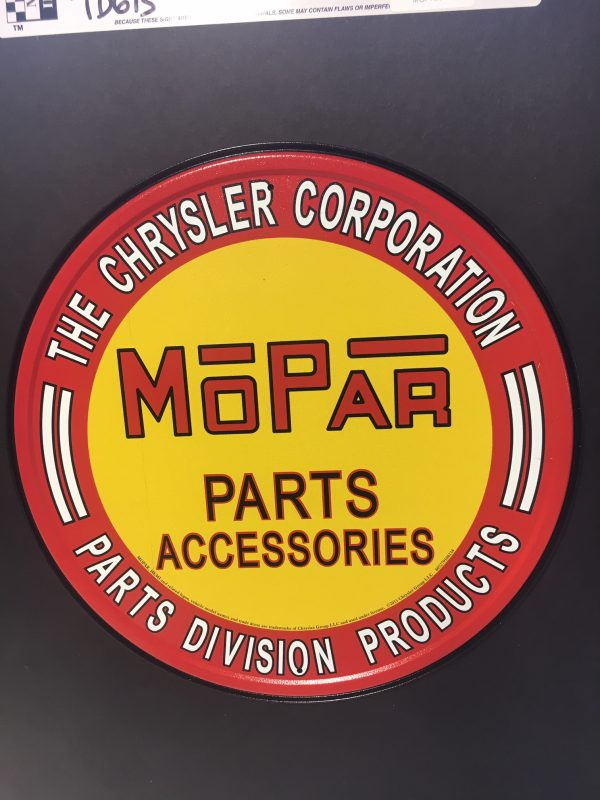 td613 rotated - MOPAR Parts Accessories - The Chryusler Corporation Parts Division Products metal sign