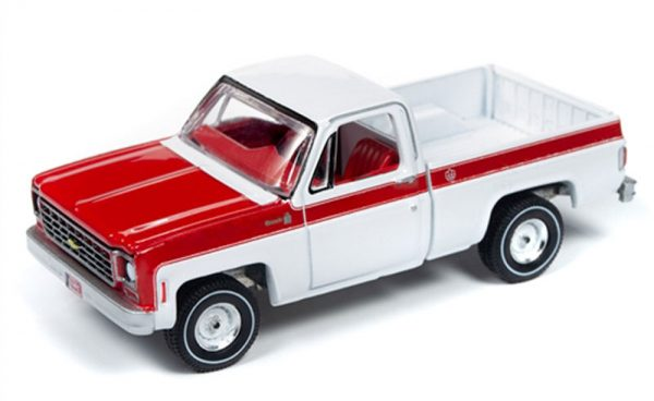awsp034 a - 1976 Chevrolet C10 Fleetside Scottsdale Truck in White and Red - Olympic Edition