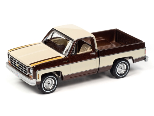 awsp038a 3 - 1977 CHEVY BONANZA C10 FLEET SIDE - Brown Irid/Nuetral
