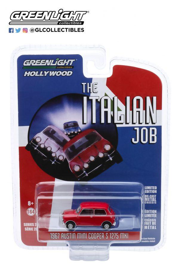 44880b - 1967 Austin Mini Cooper S 1275 MkI in Red with Black Leather Straps - The Italian Job (1969)