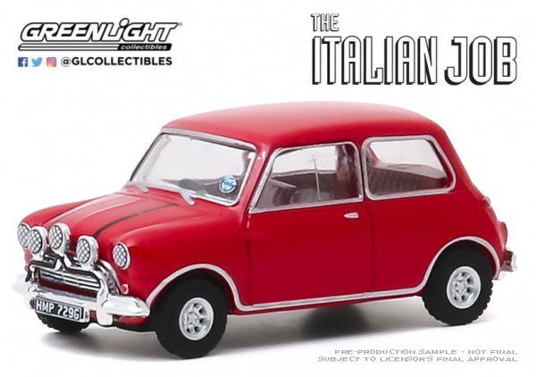 44880b1 - 1967 Austin Mini Cooper S 1275 MkI in Red with Black Leather Straps - The Italian Job (1969)