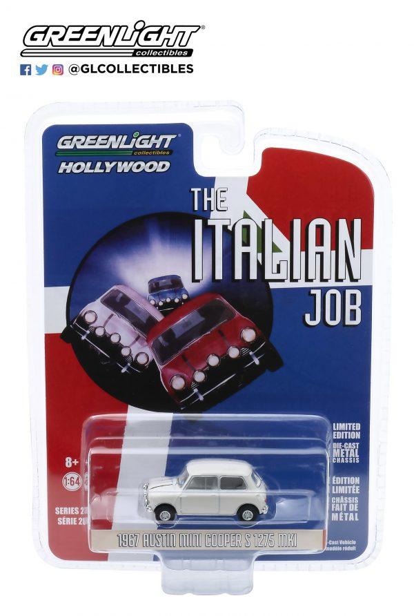 44880c - 1967 Austin Mini Cooper S 1275 MkI in White with Black Leather Straps - The Italian Job (1969)