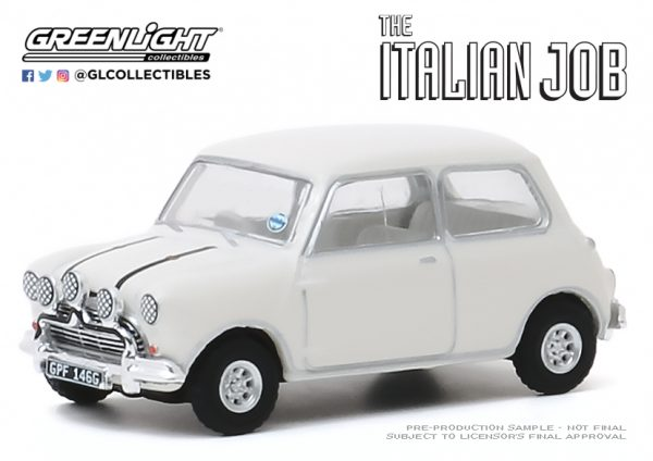 44880c1 - 1967 Austin Mini Cooper S 1275 MkI in White with Black Leather Straps - The Italian Job (1969)