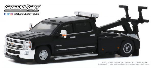 46040d - 2018 Chevrolet Silverado 3500 Dually Wrecker in Black Truck