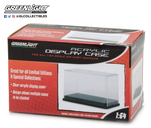 55025 1 1 - 1:64 Scale Acrylic Case with Plastic Base by Greenlight