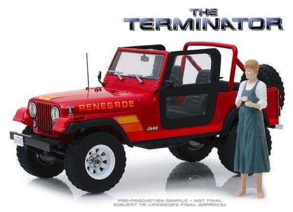 19060 - Sarah Connor's 1983 Jeep CJ-7 Renegade with Sarah Connor Figure - Terminator (1984)