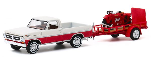 32200 a - 1972 Ford F-100 and Utility Trailer with 1920 Indian Scout Motorcycle - Hitch & Tow Series 20