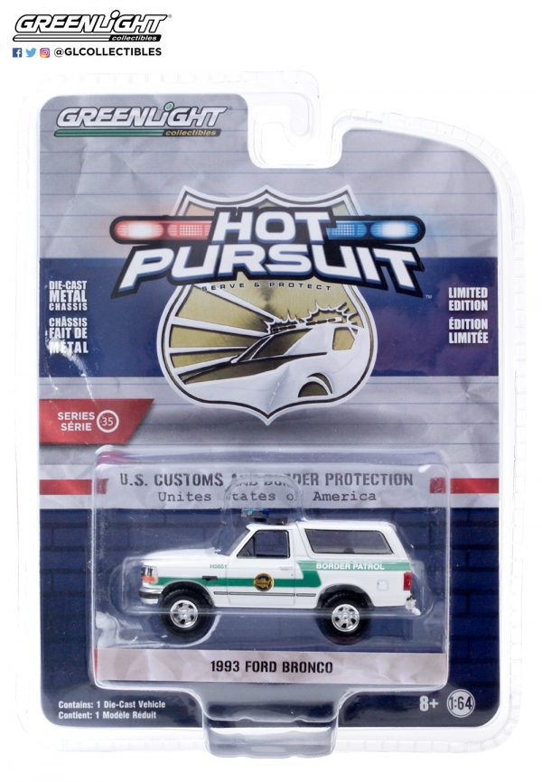 42920 d hot pursuit 35 1993 ford bronco us customs and border protection front b2b - 1993 Ford Bronco - US Customs and Border Protection Border Patrol - Hot Pursuit Series 35